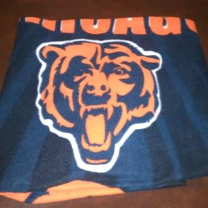 Chicago Bears NFL Throw Blanket Nice Print 62 x 45